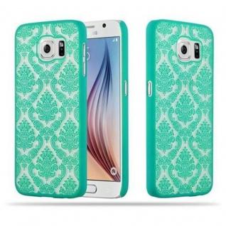 Samsung Galaxy S6 (NICHT für EDGE) Hardcase Hülle in GRÜN von Cadorabo - Blumen Paisley Henna Design Schutzhülle ? Handyhülle Bumper Back Case Cover
