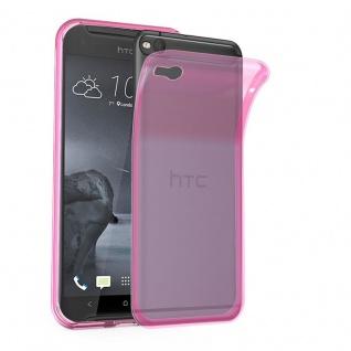 Cadorabo Hülle für HTC One X9 in TRANSPARENT PINK - Handyhülle aus flexiblem TPU Silikon - Silikonhülle Schutzhülle Ultra Slim Soft Back Cover Case Bumper