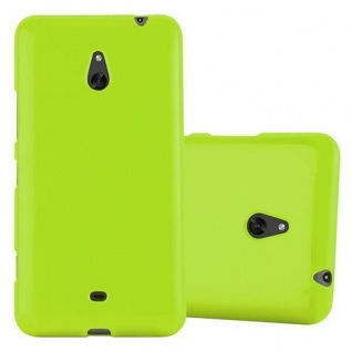 Cadorabo Hülle für Nokia Lumia 1320 in JELLY GRÜN ? Handyhülle aus flexiblem TPU Silikon ? Silikonhülle Schutzhülle Ultra Slim Soft Back Cover Case Bumper - Vorschau 1