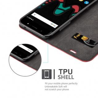 Cadorabo Hülle für WIKO WIM in APFEL ROT Handyhülle mit Magnetverschluss, Standfunktion und Kartenfach Case Cover Schutzhülle Etui Tasche Book Klapp Style - Vorschau 2