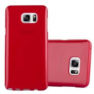 Cadorabo Hülle für Samsung Galaxy NOTE 5 in JELLY ROT ? Handyhülle aus flexiblem TPU Silikon ? Silikonhülle Schutzhülle Ultra Slim Soft Back Cover Case Bumper