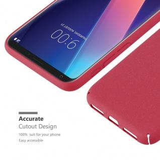 Cadorabo Hülle für LG V30 in FROSTY ROT - Hardcase Handyhülle aus Plastik gegen Kratzer und Stöße - Schutzhülle Bumper Ultra Slim Back Case Hard Cover - Vorschau 5