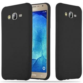 "Cadorabo ! TPU Ultra Slim Candy Silikon Hülle Case Cover Schutzhülle für Samsung Galaxy "" J7"" (J700 - Modell 2015) in CANDY-SCHWARZ"