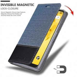 Cadorabo Hülle für WIKO VIEW 2 in DUNKEL BLAU SCHWARZ - Handyhülle mit Magnetverschluss, Standfunktion und Kartenfach - Case Cover Schutzhülle Etui Tasche Book Klapp Style - Vorschau 3