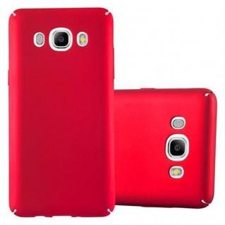 Cadorabo Hülle für Samsung Galaxy J7 2016 in METALL ROT ? Hardcase Handyhülle aus Plastik gegen Kratzer und Stöße ? Schutzhülle Bumper Ultra Slim Back Case Hard Cover