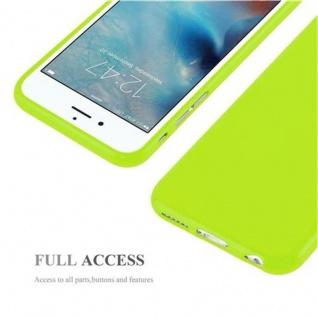 Cadorabo Hülle für Apple iPhone 6 / iPhone 6S in JELLY GRÜN - Handyhülle aus flexiblem TPU Silikon - Silikonhülle Schutzhülle Ultra Slim Soft Back Cover Case Bumper - Vorschau 4