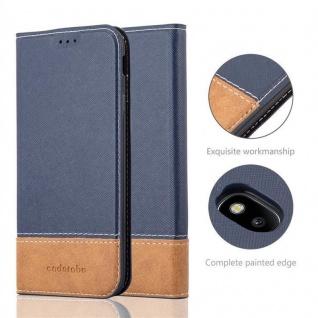 Cadorabo Hülle für Samsung Galaxy J5 2017 in BLAU BRAUN ? Handyhülle mit Magnetverschluss, Standfunktion und Kartenfach ? Case Cover Schutzhülle Etui Tasche Book Klapp Style - Vorschau 2