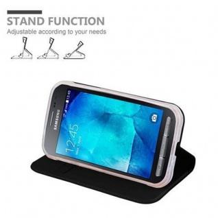 Cadorabo Hülle für Samsung Galaxy XCOVER 3 in CLASSY SCHWARZ - Handyhülle mit Magnetverschluss, Standfunktion und Kartenfach - Case Cover Schutzhülle Etui Tasche Book Klapp Style - Vorschau 4