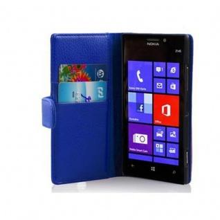 Cadorabo Hülle für Nokia Lumia 925 in KÖNIGS BLAU Handyhülle aus strukturiertem Kunstleder mit Standfunktion und Kartenfach Case Cover Schutzhülle Etui Tasche Book Klapp Style