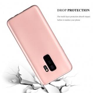 Cadorabo Hülle für Samsung Galaxy S9 PLUS in METALLIC ROSÉ GOLD - Handyhülle aus flexiblem TPU Silikon - Silikonhülle Schutzhülle Ultra Slim Soft Back Cover Case Bumper - Vorschau 3
