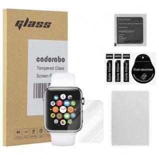 Cadorabo Panzer Folie für Apple Watch Series 1 & 2 42mm Schutzfolie in KRISTALL KLAR Gehärtetes (Tempered) Display-Schutzglas in 9H Härte mit 3D Touch Kompatibilität