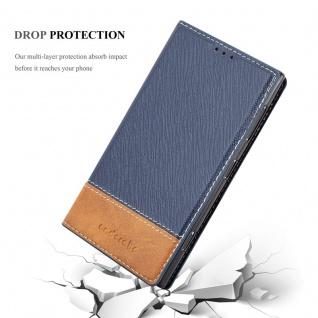 Cadorabo Hülle für Nokia Lumia 1020 in DUNKEL BLAU BRAUN - Handyhülle mit Magnetverschluss, Standfunktion und Kartenfach - Case Cover Schutzhülle Etui Tasche Book Klapp Style - Vorschau 5