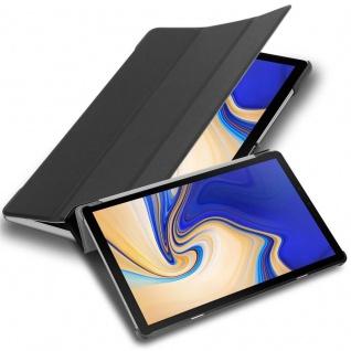 """Cadorabo Tablet Hülle für Samsung Galaxy Tab S4 (10, 5"""" Zoll) T830 / T835 in SATIN SCHWARZ Ultra Dünne Book Style Schutzhülle mit Auto Wake Up und Standfunktion aus Kunstleder"""