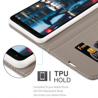 Cadorabo Hülle für Google Pixel 2 XL in HELL GRAU BRAUN - Handyhülle mit Magnetverschluss, Standfunktion und Kartenfach - Case Cover Schutzhülle Etui Tasche Book Klapp Style - Vorschau 3