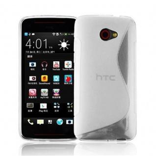 Cadorabo Hülle für HTC BUTTERFLY S in HALB TRANSPARENT ? Handyhülle aus flexiblem TPU Silikon ? Silikonhülle Schutzhülle Ultra Slim Soft Back Cover Case Bumper