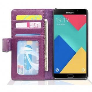 Cadorabo Hülle für Samsung Galaxy A5 2016 in BORDEAUX LILA ? Handyhülle mit Magnetverschluss und 3 Kartenfächern ? Case Cover Schutzhülle Etui Tasche Book Klapp Style - Vorschau 4