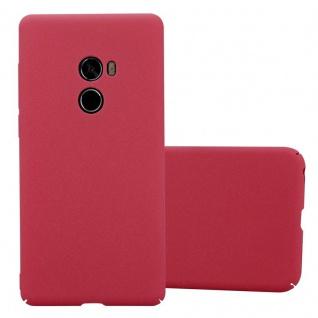 Cadorabo Hülle für Xiaomi Mi Mix 2 in FROSTY ROT - Hardcase Handyhülle aus Plastik gegen Kratzer und Stöße - Schutzhülle Bumper Ultra Slim Back Case Hard Cover