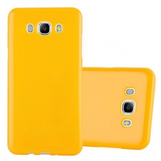 Cadorabo Hülle für Samsung Galaxy J7 2015 in JELLY GELB - Handyhülle aus flexiblem TPU Silikon - Silikonhülle Schutzhülle Ultra Slim Soft Back Cover Case Bumper