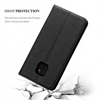 Cadorabo Hülle für Huawei MATE 20 PRO in NACHT SCHWARZ - Handyhülle mit Magnetverschluss, Standfunktion und Kartenfach - Case Cover Schutzhülle Etui Tasche Book Klapp Style - Vorschau 5