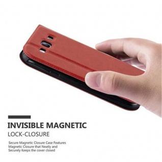 Cadorabo Hülle für Samsung Galaxy S3 / S3 NEO in SAFRAN ROT ? Handyhülle mit Magnetverschluss, Standfunktion und 2 Sichtfenstern ? Case Cover Schutzhülle Etui Tasche Book Klapp Style - Vorschau 5