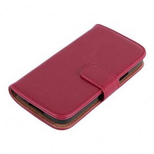 Cadorabo Hülle für Samsung Galaxy S5 MINI / S5 MINI DUOS in WEIN ROT ? Handyhülle mit Magnetverschluss, Standfunktion und Kartenfach ? Case Cover Schutzhülle Etui Tasche Book Klapp Style - Vorschau 3