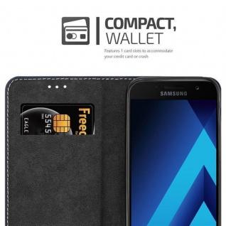Cadorabo Hülle für Samsung Galaxy A3 2017 in SCHWARZ BRAUN ? Handyhülle mit Magnetverschluss, Standfunktion und Kartenfach ? Case Cover Schutzhülle Etui Tasche Book Klapp Style - Vorschau 5