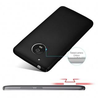 Cadorabo Hülle für Motorola MOTO G5 in METALL SCHWARZ - Hardcase Handyhülle aus Plastik gegen Kratzer und Stöße - Schutzhülle Bumper Ultra Slim Back Case Hard Cover - Vorschau 4