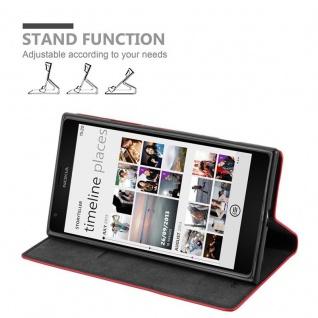Cadorabo Hülle für Nokia Lumia 1520 in APFEL ROT - Handyhülle mit Magnetverschluss, Standfunktion und Kartenfach - Case Cover Schutzhülle Etui Tasche Book Klapp Style - Vorschau 3