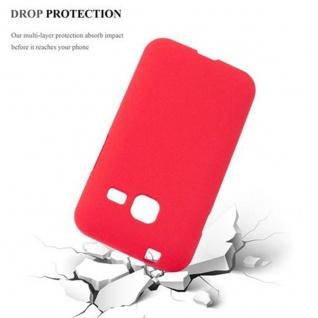 Cadorabo Hülle für Samsung Galaxy J1 MINI 2016 in FROST ROT - Handyhülle aus flexiblem TPU Silikon - Silikonhülle Schutzhülle Ultra Slim Soft Back Cover Case Bumper - Vorschau 5