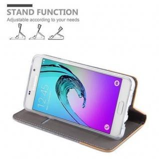 Cadorabo Hülle für Samsung Galaxy A5 2016 in HELL GRAU BRAUN - Handyhülle mit Magnetverschluss, Standfunktion und Kartenfach - Case Cover Schutzhülle Etui Tasche Book Klapp Style - Vorschau 5