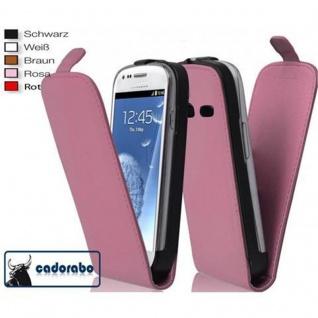 Cadorabo Hülle für Samsung Galaxy S3 / S3 NEO in ALT ROSA - Handyhülle im Flip Design aus glattem Kunstleder - Case Cover Schutzhülle Etui Tasche Book Klapp Style