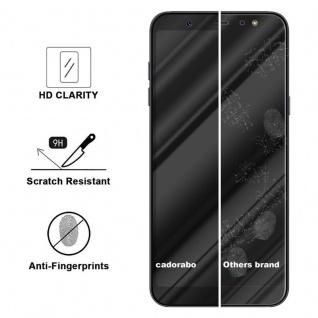 Cadorabo Vollbild Panzer Folie für Samsung Galaxy A6 PLUS 2018 - Schutzfolie in TRANSPARENT mit SCHWARZ - Gehärtetes (Tempered) Display-Schutzglas in 9H Härte mit 3D Touch Kompatibilität - Vorschau 3