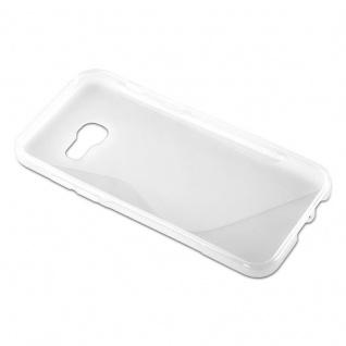 Cadorabo Hülle für Samsung Galaxy A5 2017 in HALB TRANSPARENT ? Handyhülle aus flexiblem TPU Silikon ? Silikonhülle Schutzhülle Ultra Slim Soft Back Cover Case Bumper - Vorschau 5