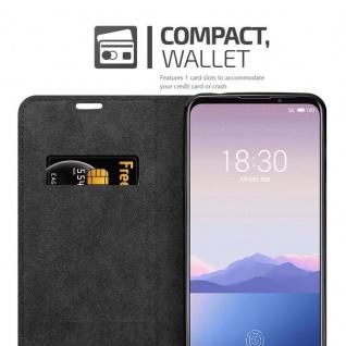 Cadorabo Hülle für MEIZU 16s in APFEL ROT - Handyhülle mit Magnetverschluss, Standfunktion und Kartenfach - Case Cover Schutzhülle Etui Tasche Book Klapp Style - Vorschau 3