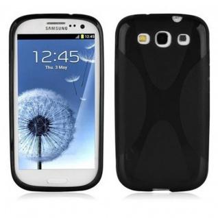 Cadorabo Hülle für Samsung Galaxy S3 / S3 NEO in OXID SCHWARZ ? Handyhülle aus flexiblem TPU Silikon ? Silikonhülle Schutzhülle Ultra Slim Soft Back Cover Case Bumper
