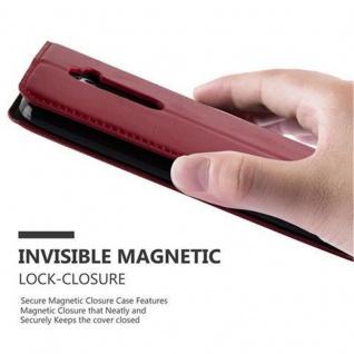 Cadorabo Hülle für LG G2 in APFEL ROT Handyhülle mit Magnetverschluss, Standfunktion und Kartenfach Case Cover Schutzhülle Etui Tasche Book Klapp Style - Vorschau 5
