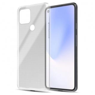 Cadorabo Hülle kompatibel mit Google Pixel 5 in VOLL TRANSPARENT Handyhülle aus flexiblem TPU Silikon Silikonhülle Schutzhülle Ultra Slim Soft Back Cover Case Bumper