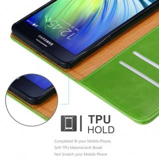 Cadorabo Hülle für Samsung Galaxy A7 2015 in GRAS GRÜN - Handyhülle mit Magnetverschluss, Standfunktion und Kartenfach - Case Cover Schutzhülle Etui Tasche Book Klapp Style - Vorschau 3