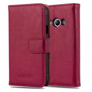 Cadorabo Hülle für Samsung Galaxy Xcover 3 in WEIN ROT - Handyhülle mit Magnetverschluss, Standfunktion und Kartenfach - Case Cover Schutzhülle Etui Tasche Book Klapp Style