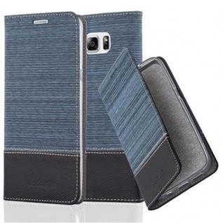 Cadorabo Hülle für Samsung Galaxy NOTE 5 in DUNKEL BLAU SCHWARZ - Handyhülle mit Magnetverschluss, Standfunktion und Kartenfach - Case Cover Schutzhülle Etui Tasche Book Klapp Style
