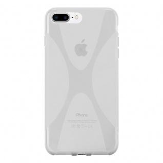 Cadorabo Hülle für Apple iPhone 8 PLUS / iPhone 7 PLUS / iPhone 7S PLUS in HALB TRANSPARENT - Handyhülle aus flexiblem TPU Silikon - Silikonhülle Schutzhülle Ultra Slim Soft Back Cover Case Bumper