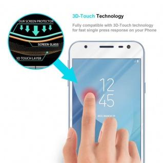 Cadorabo Vollbild Panzer Folie für Samsung Galaxy J3 PRO - Schutzfolie in TRANSPARENT mit WEISS - Gehärtetes (Tempered) Display-Schutzglas in 9H Härte mit 3D Touch Kompatibilität - Vorschau 5