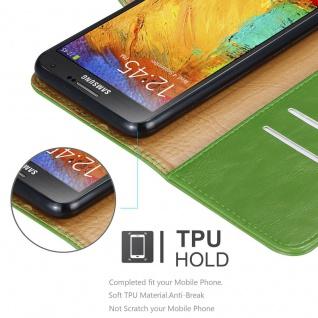 Cadorabo Hülle für Samsung Galaxy NOTE 3 NEO in GRAS GRÜN ? Handyhülle mit Magnetverschluss, Standfunktion und Kartenfach ? Case Cover Schutzhülle Etui Tasche Book Klapp Style - Vorschau 4