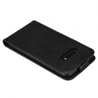Cadorabo Hülle für Samsung Galaxy S10e in NACHT SCHWARZ - Handyhülle im Flip Design mit Magnetverschluss - Case Cover Schutzhülle Etui Tasche Book Klapp Style - Vorschau 4
