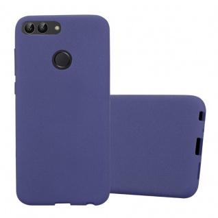 Cadorabo Hülle für Huawei P SMART 2018 / Enjoy 7S in FROST DUNKEL BLAU Handyhülle aus flexiblem TPU Silikon Silikonhülle Schutzhülle Ultra Slim Soft Back Cover Case Bumper