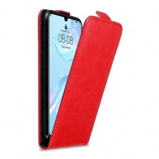 Cadorabo Hülle für Huawei P30 in APFEL ROT Handyhülle im Flip Design mit Magnetverschluss Case Cover Schutzhülle Etui Tasche Book Klapp Style