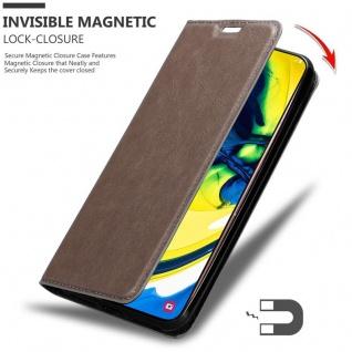 Cadorabo Hülle für Samsung Galaxy A80 / A90 in KAFFEE BRAUN - Handyhülle mit Magnetverschluss, Standfunktion und Kartenfach - Case Cover Schutzhülle Etui Tasche Book Klapp Style - Vorschau 3