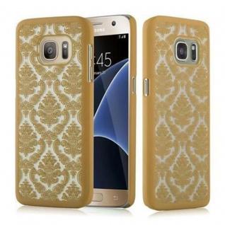 Samsung Galaxy S7 Hardcase Hülle in GOLD von Cadorabo - Blumen Paisley Henna Design Schutzhülle ? Handyhülle Bumper Back Case Cover