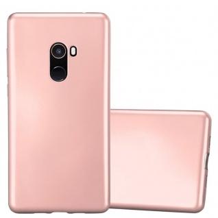 Cadorabo Hülle für Xiaomi Mi Mix 2 in METALLIC ROSÉ GOLD - Handyhülle aus flexiblem TPU Silikon - Silikonhülle Schutzhülle Ultra Slim Soft Back Cover Case Bumper - Vorschau 1