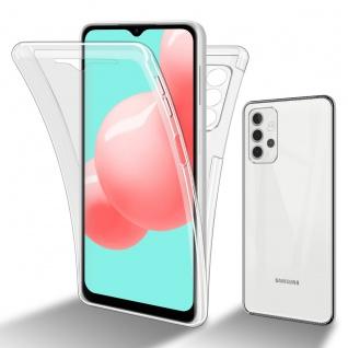 Cadorabo Hülle kompatibel mit Samsung Galaxy A32 5G in TRANSPARENT - 360° Full Body Handyhülle Front und Rückenschutz Rundumschutz Schutzhülle mit Displayschutz